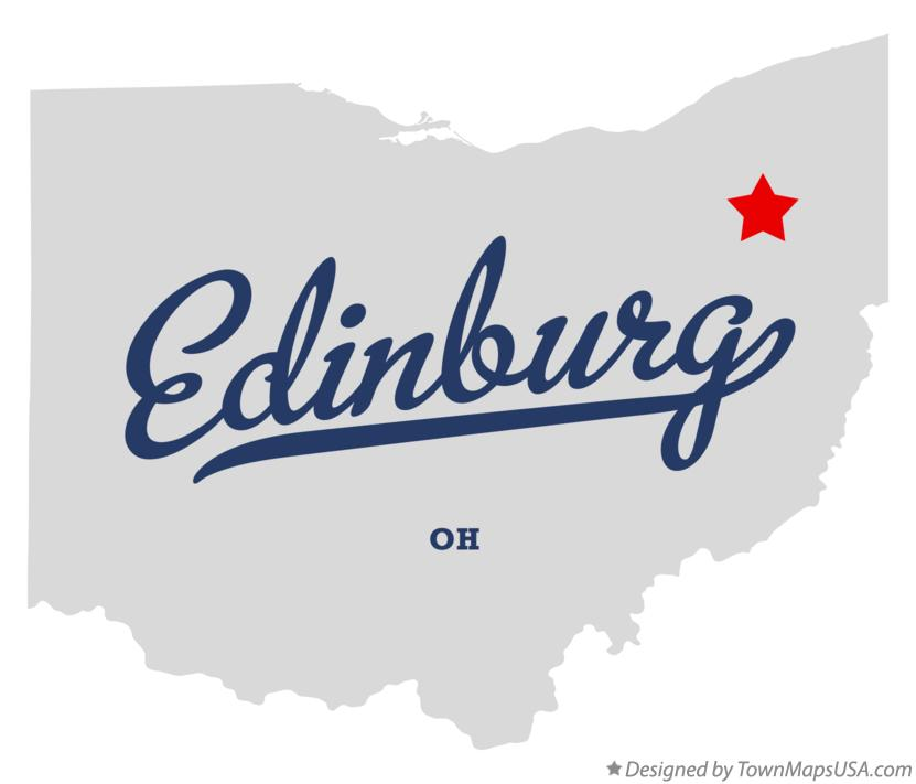 Map of Edinburg Ohio OH