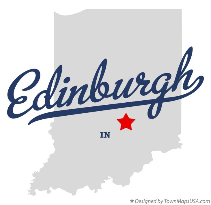 Map of Edinburgh Indiana IN