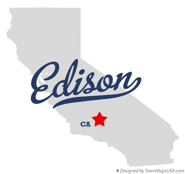Map of Edison California CA