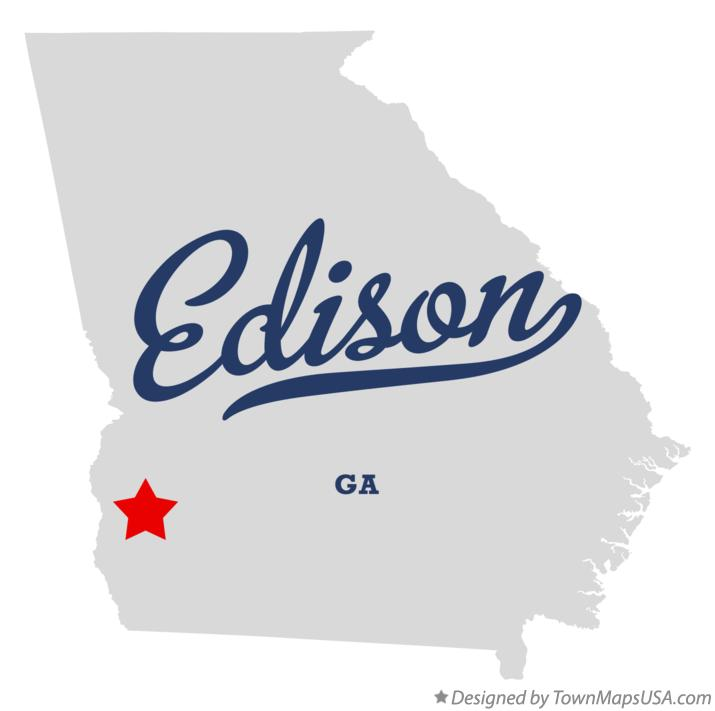 Map of Edison Georgia GA