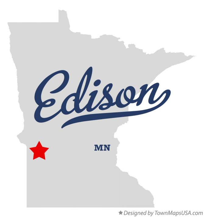 Map of Edison Minnesota MN