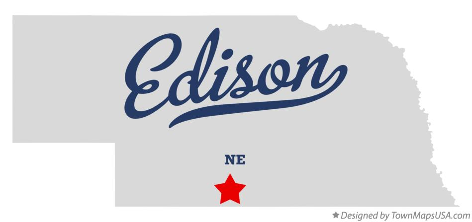 Map of Edison Nebraska NE
