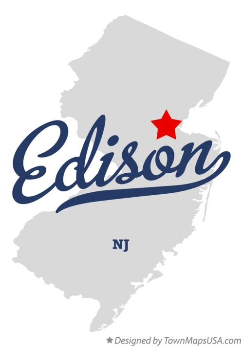 Map of Edison New Jersey NJ