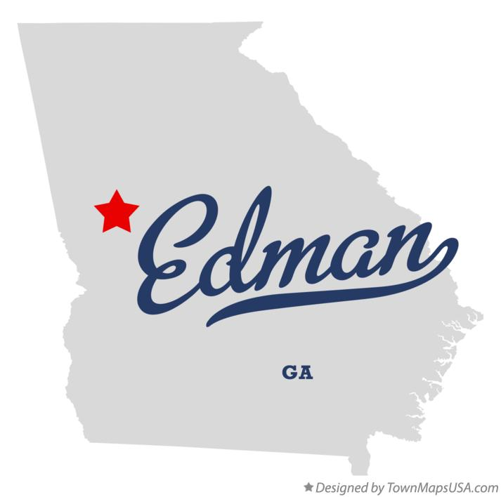 Map of Edman Georgia GA