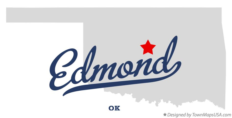 Map of Edmond OK Oklahoma
