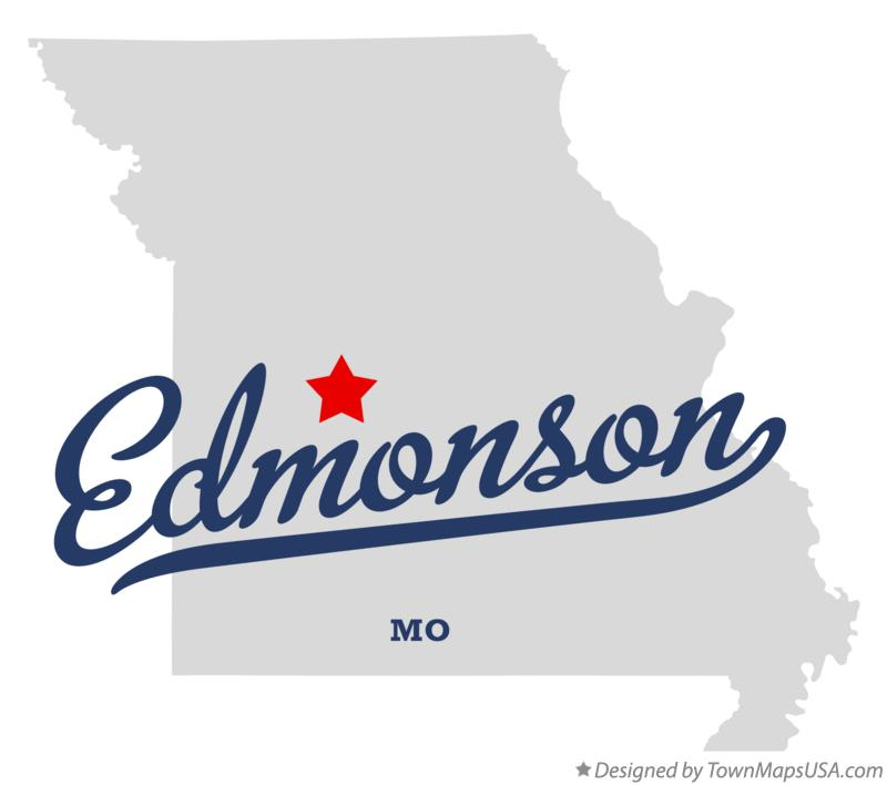 Map of Edmonson Missouri MO