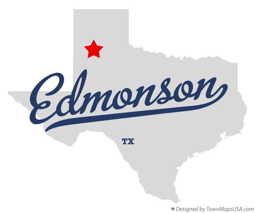 Map of Edmonson Texas TX