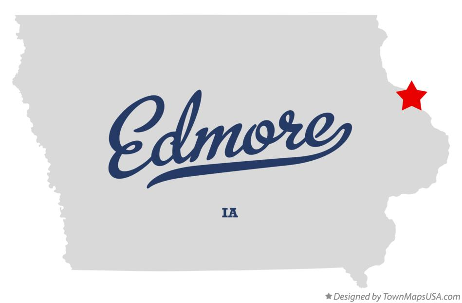 Map of Edmore Iowa IA