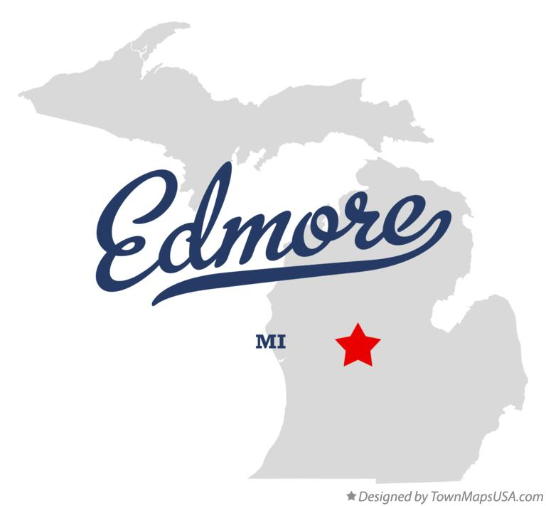Map of Edmore Michigan MI