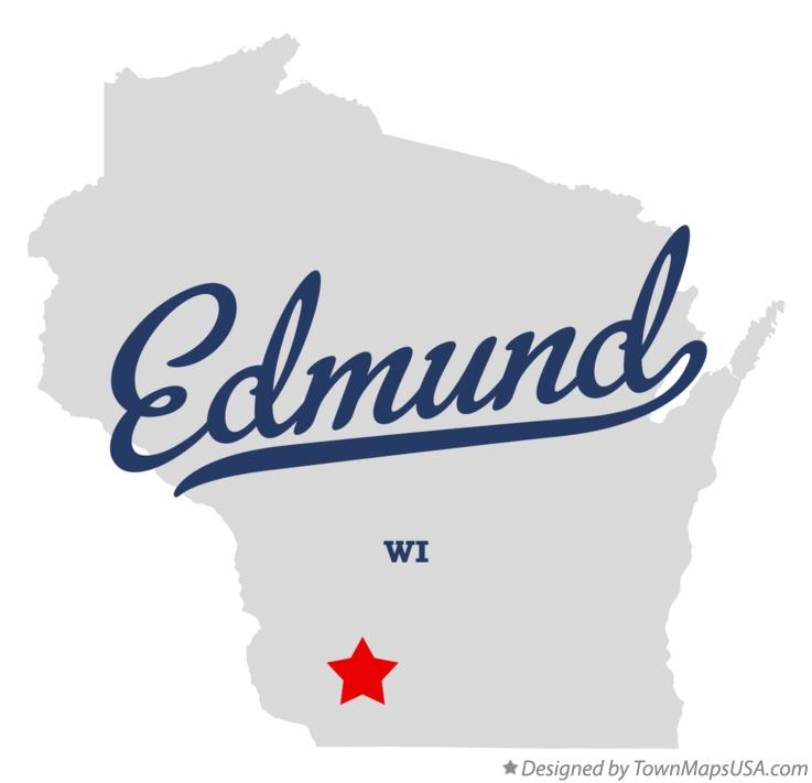 Map of Edmund Wisconsin WI
