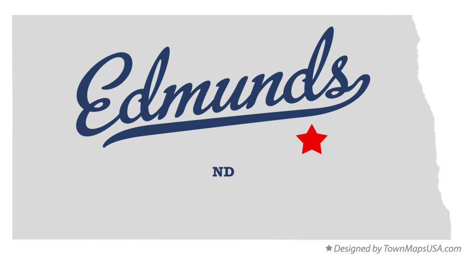 Map of Edmunds North Dakota ND