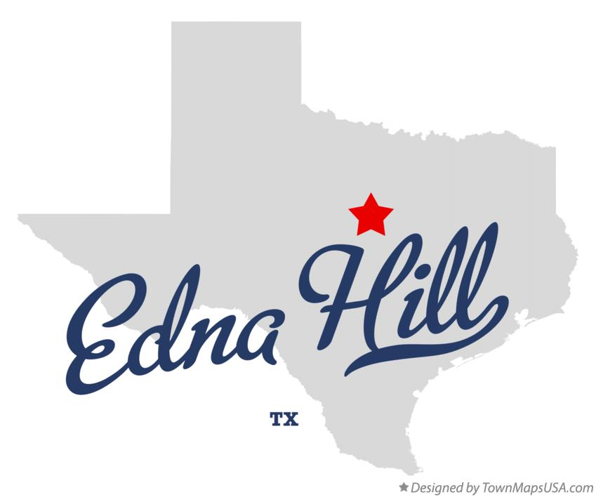 Map of Edna Hill Texas TX