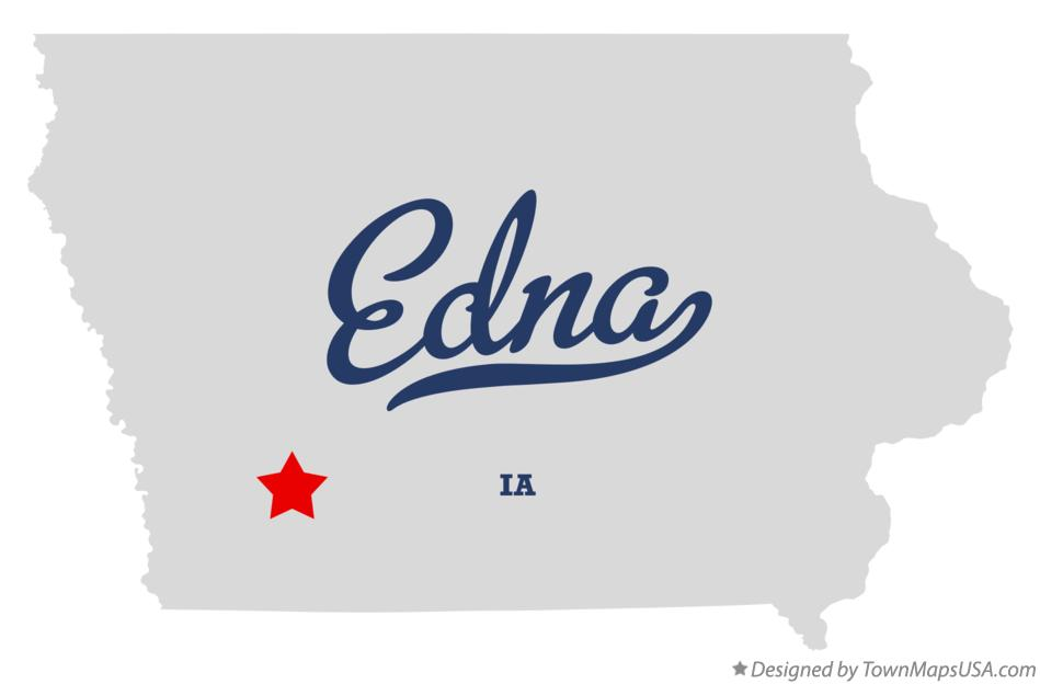 Map of Edna Iowa IA