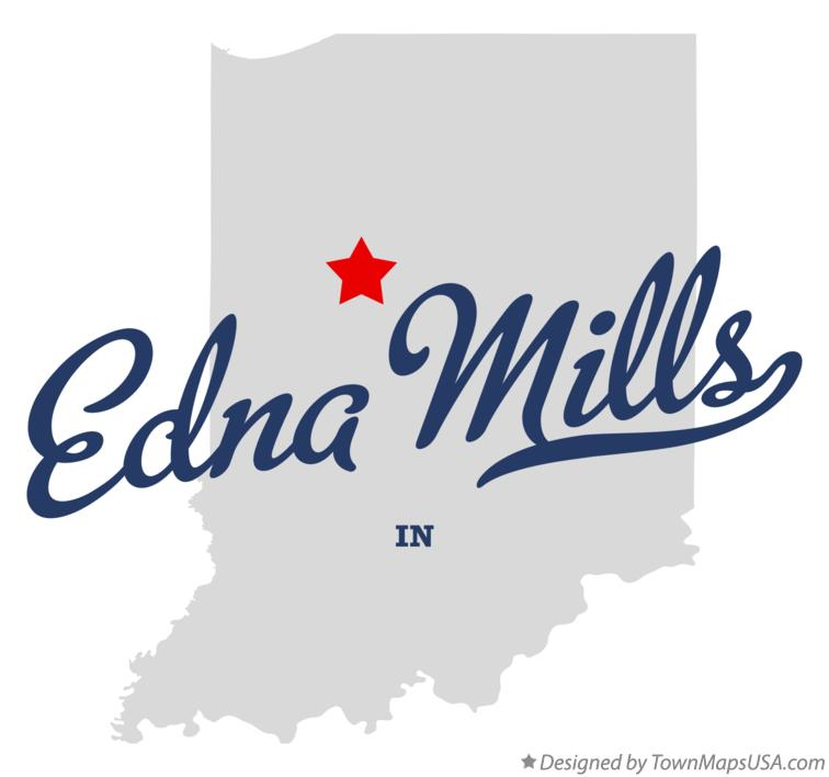 Map of Edna Mills Indiana IN