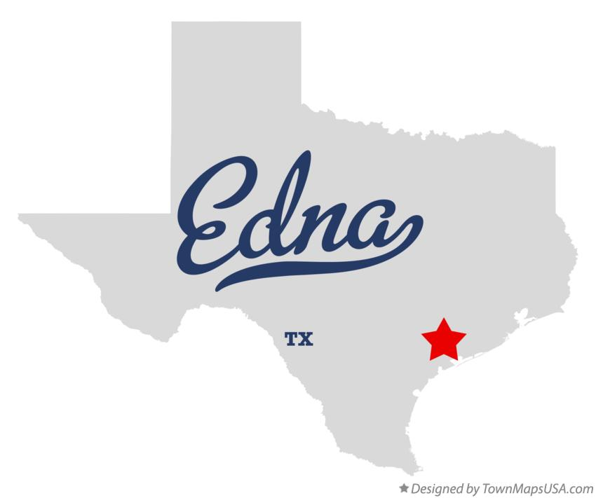 Map of Edna Texas TX