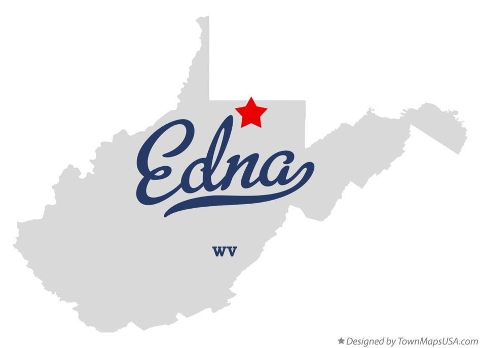 Map of Edna West Virginia WV
