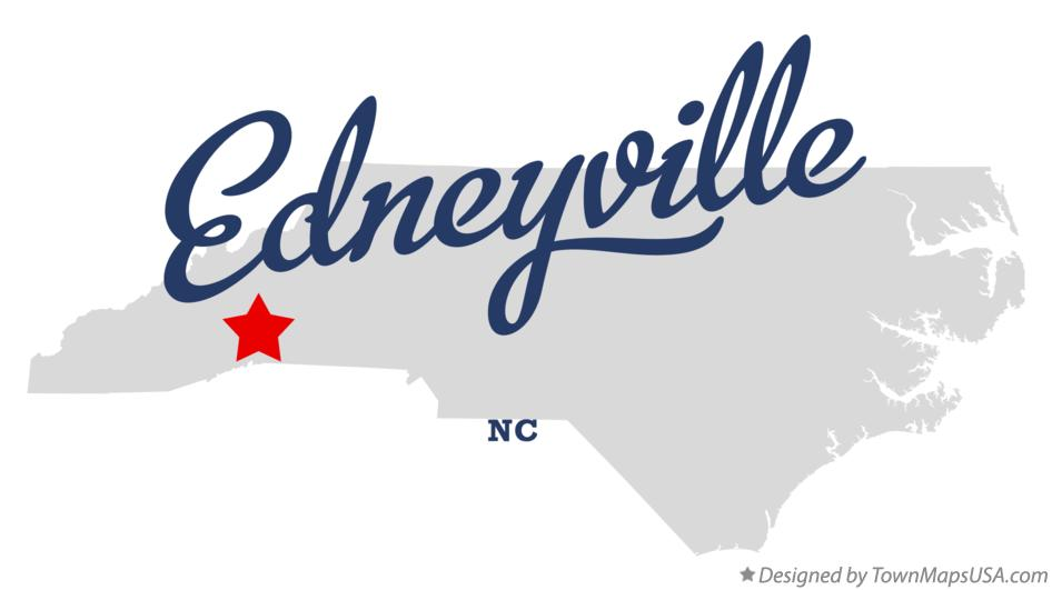 Map of Edneyville North Carolina NC