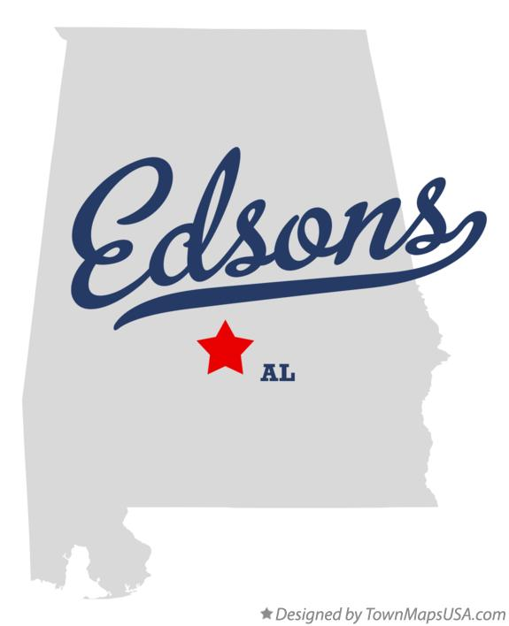 Map of Edsons Alabama AL