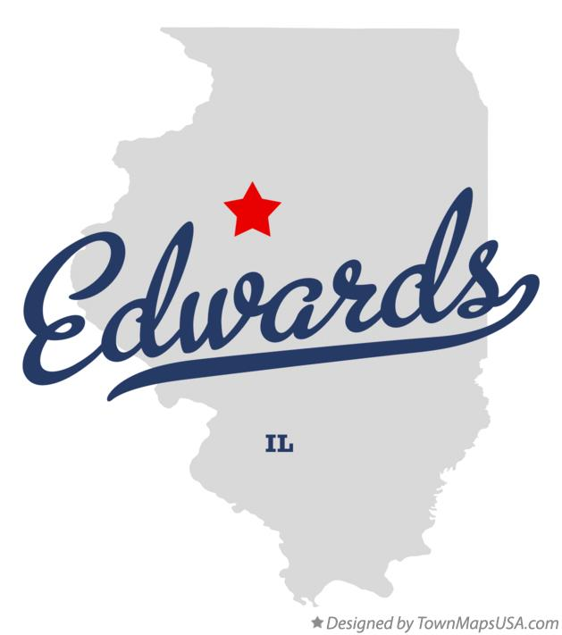 Map of Edwards Illinois IL