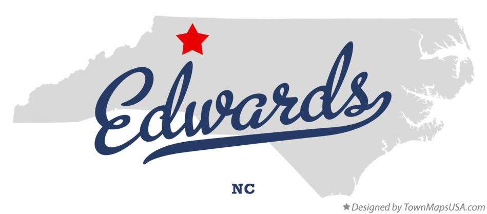 Map of Edwards North Carolina NC