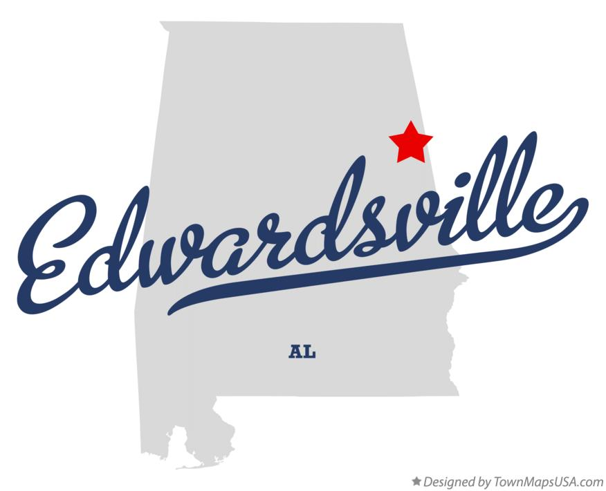 Map of Edwardsville Alabama AL