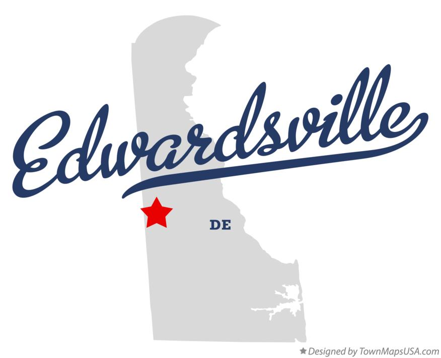 Map of Edwardsville Delaware DE