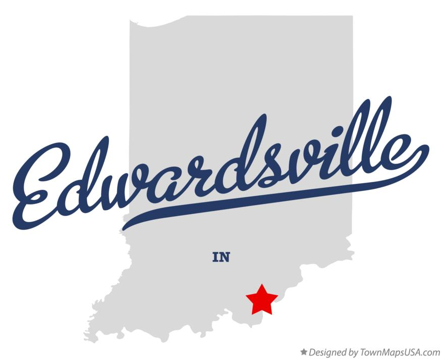 Map of Edwardsville Indiana IN