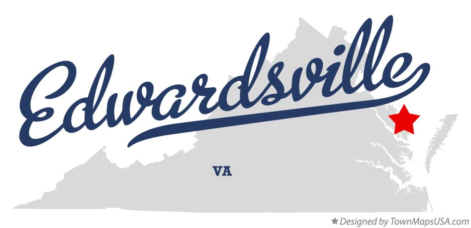 Map of Edwardsville Virginia VA