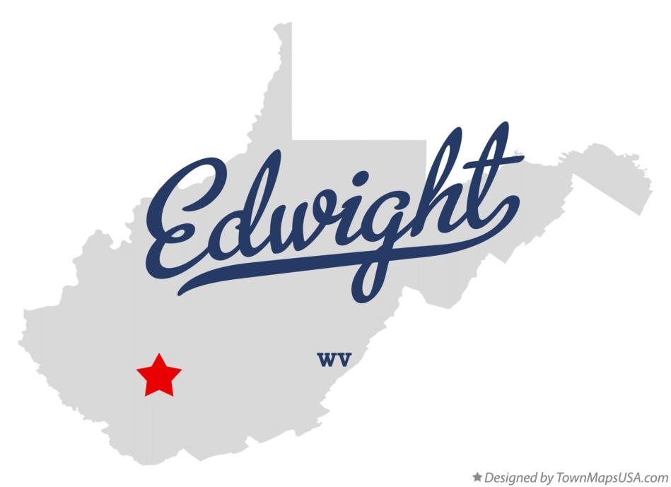 Map of Edwight West Virginia WV