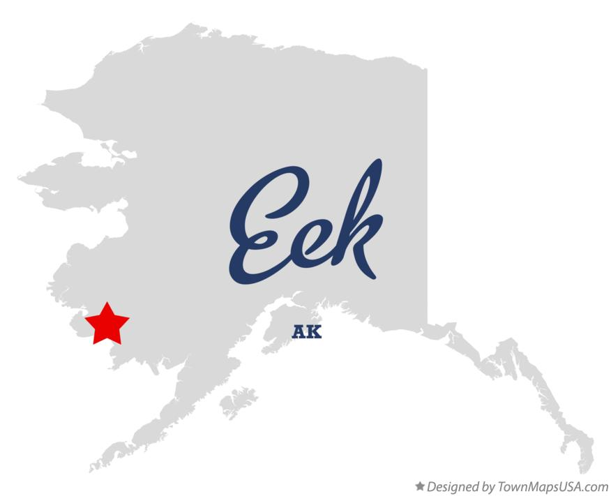 Map of Eek Alaska AK