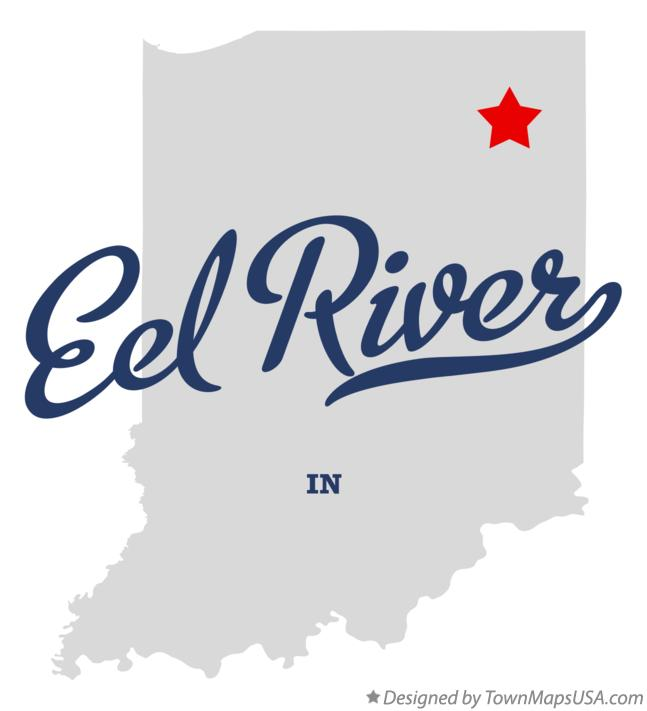 Map of Eel River Indiana IN
