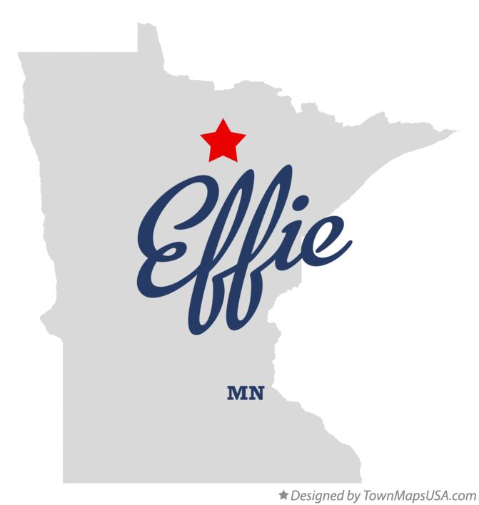 Map of Effie Minnesota MN