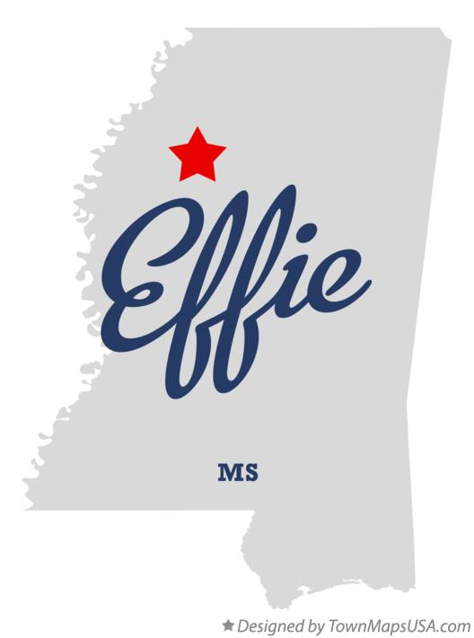 Map of Effie Mississippi MS