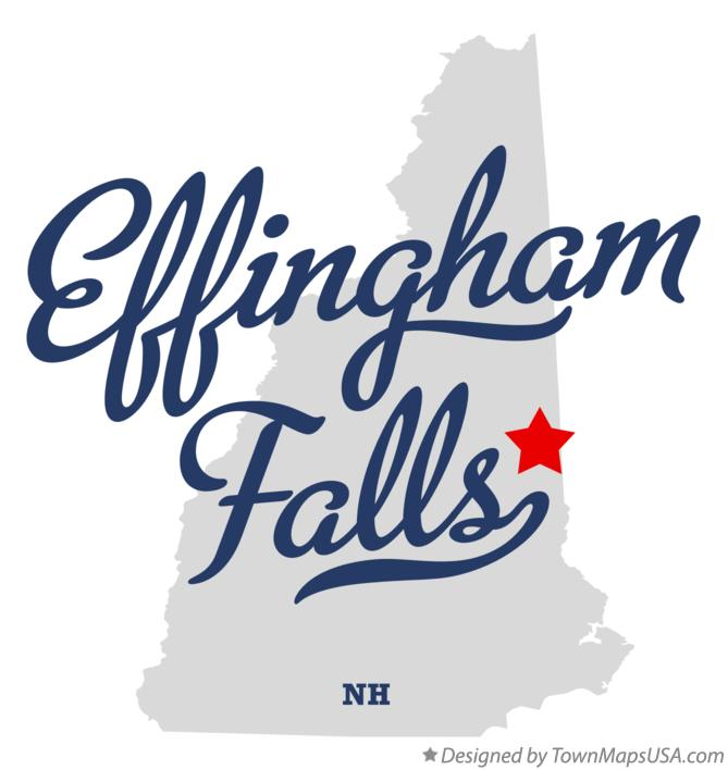 Map of Effingham Falls New Hampshire NH