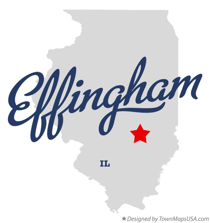 Map of Effingham Illinois IL