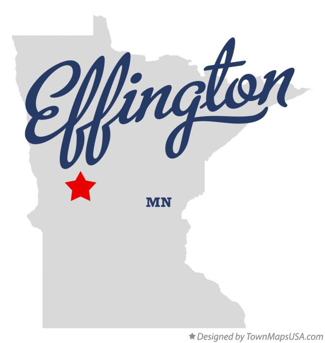 Map of Effington Minnesota MN