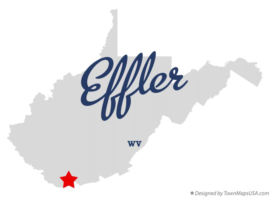 Map of Effler West Virginia WV