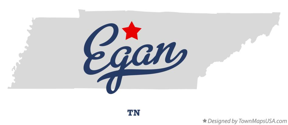 Map of Egan Tennessee TN