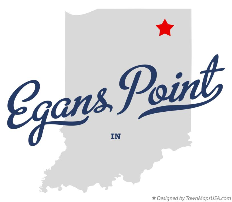 Map of Egans Point Indiana IN