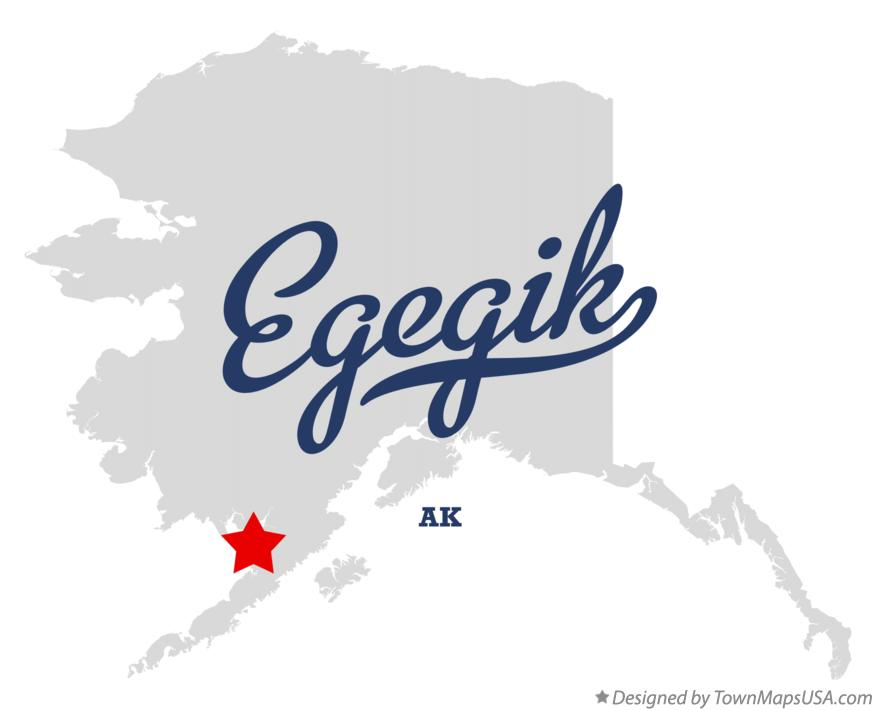 Map of Egegik Alaska AK