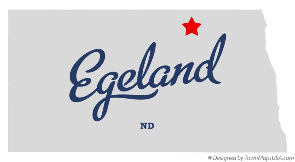 Map of Egeland North Dakota ND