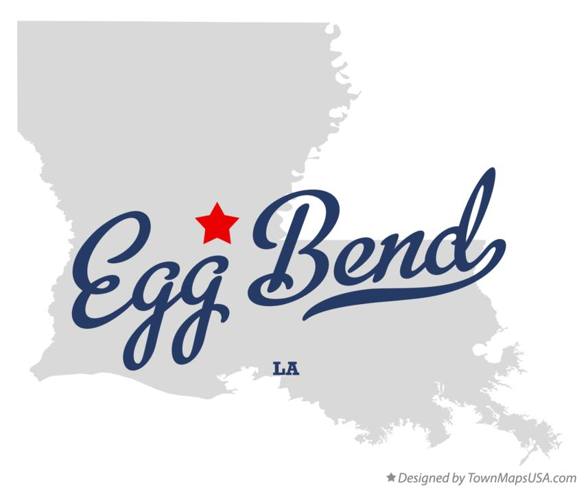 Map of Egg Bend Louisiana LA