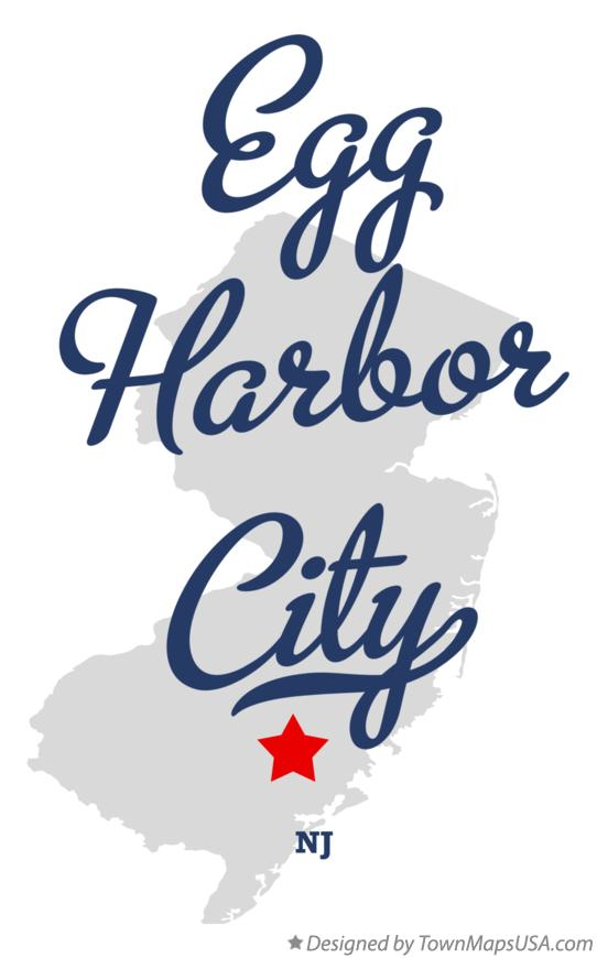 Map of Egg Harbor City New Jersey NJ