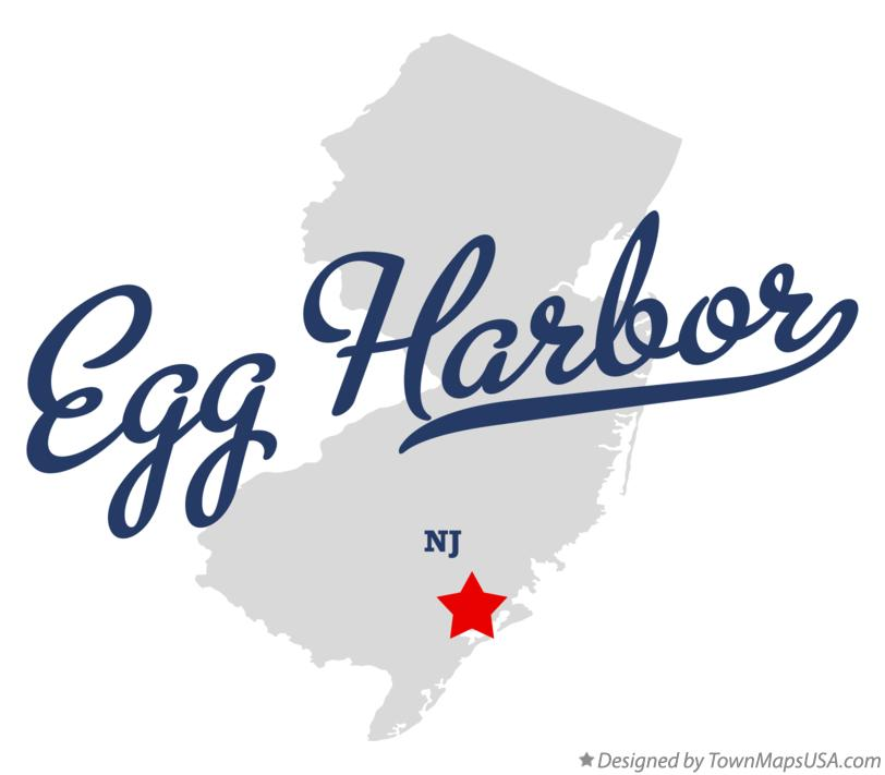Map of Egg Harbor New Jersey NJ