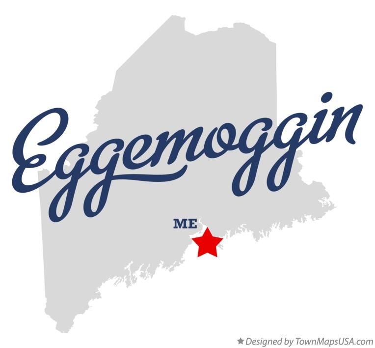 Map of Eggemoggin Maine ME