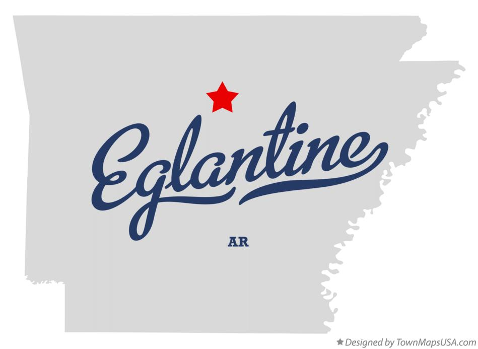Map of Eglantine Arkansas AR