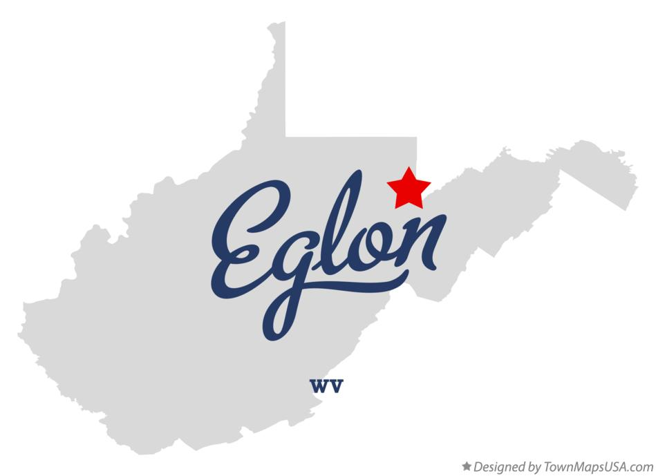 Map of Eglon West Virginia WV