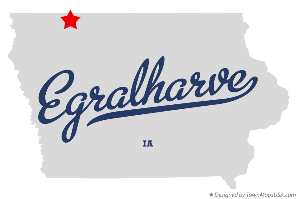 Map of Egralharve Iowa IA
