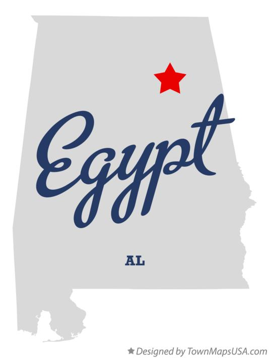 Map of Egypt Alabama AL