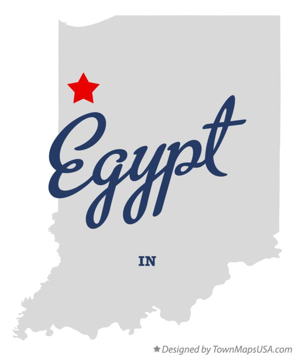 Map of Egypt Indiana IN